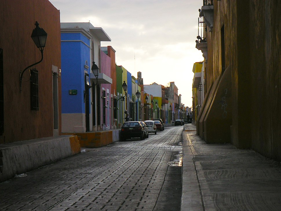CampecheStreetColoredHouses