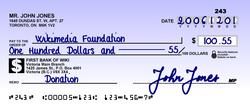 Cheque Wikipedia