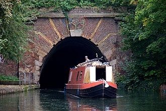 Islington Tunnel - Image: Canal boat and tunnel under Muriel Street, London