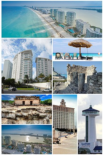 Cancún - Image: Cancún Collage