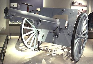 Canon de 75 modèle 1897 - Canon de 75 Modèle 1897 on display in Les Invalides.