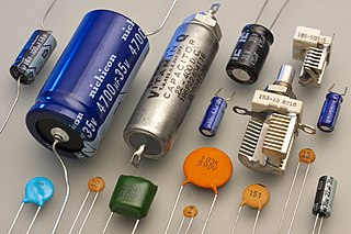 Capacitor electrical component used to store energy for a short period of time