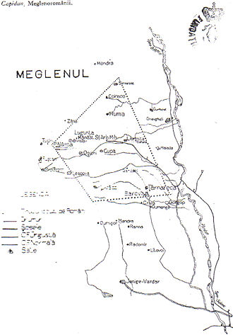 Megleno-Romanians - The Meglenoromanian settlements in Greece and the Republic of Macedonia in 1925