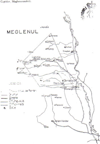 area meglenorumena ai primi del novecento