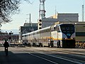 Capitol Corridor train in Jack London Square, March 2018.JPG