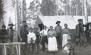 John Bonser (steamship captain) - Captain John Bonser (third from left) near the Nechako River