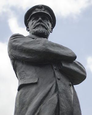 Statue of Captain Edward Smith in Beacon Park,...