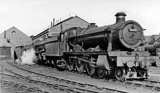 Cardiff Canton TMD - Former GWR steam locomotives at Canton in 1951