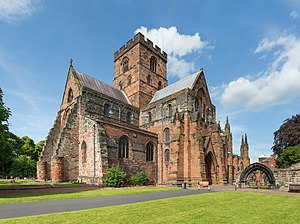 Listed buildings in Carlisle, Cumbria - Image: Carlisle Cathedral Exterior, Cumbria, UK Diliff