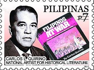 Carlos Quirino - Carlos Quirino on a 2010 stamp of the Philippines