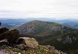 Beinn a' Ghlò - Càrn Liath from Airgiod Bheinn