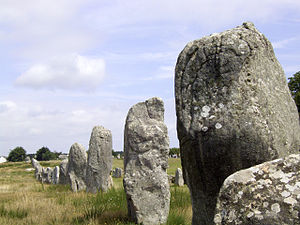 French art - The Menec alignments, the most well-known megalithic site among the Carnac stones