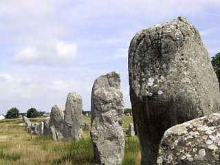 Carnac stones stone rows in Carnac, France