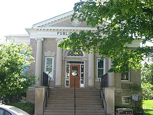 Danville, Indiana - The Carnegie library in Danville, Indiana
