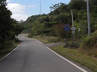Puerto Rico Highway 143 - A scene on PR-143 westbound in Barrio Anón, Ponce, Puerto Rico.