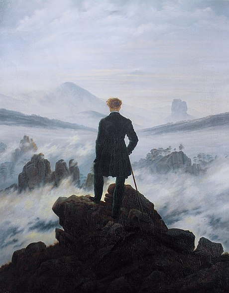 Wanderer Above the Sea of Fog, by Caspar David Friedrich is an example of Romantic painting. Caspar David Friedrich - Wanderer above the sea of fog.jpg