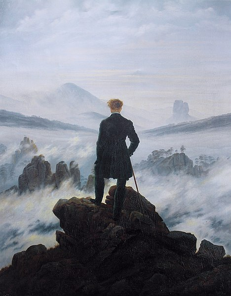 Stampa:Caspar David Friedrich - Wanderer above the sea of fog.jpg