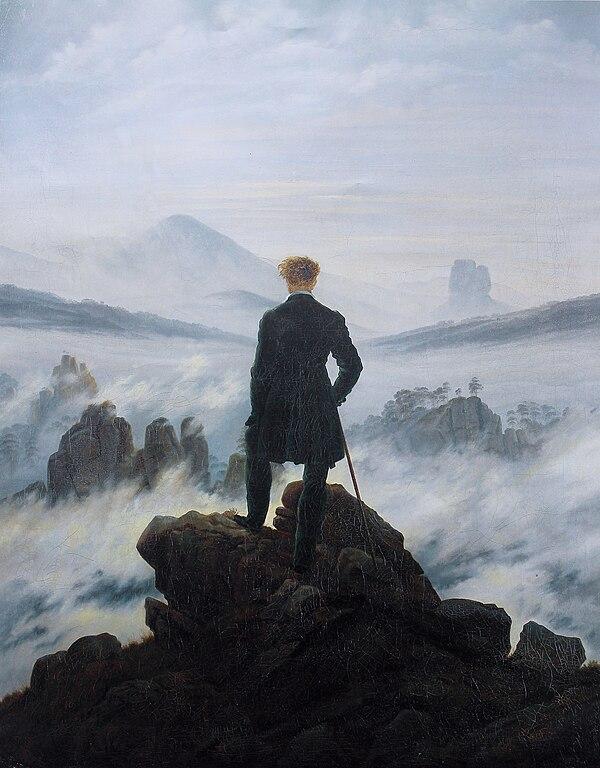 Bilderesultat for caspar Friedrich wanderer