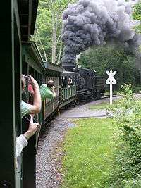 Cass Scenic Railroad, crossing P6150315.JPG