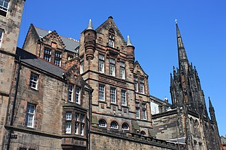 Robert Wilson (architect) - Castlehill School, Edinburgh from the south