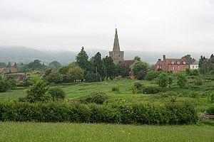 Castlemorton - Image: Castlemorton church and village