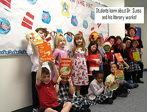 Students learn about Dr. Seuss and his literar...