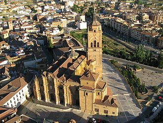Guadix Cathedral - Cathedral from the air