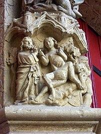 Cathedrale d'Amiens - portail - naissance d'Eve.jpg