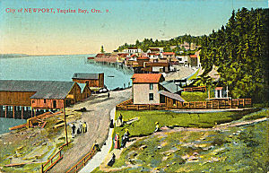 Newport, Oregon - Newport bayfront as seen in the mid-1910s