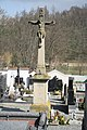 Cemetery cross at cemetery in Náměšť nad Oslavou, Třebíč District.jpg