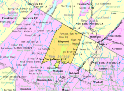Census Bureau map of Ringwood, New Jersey