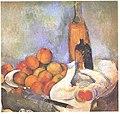Cezanne - Stilleben mit Flaschen und Apfel.jpg