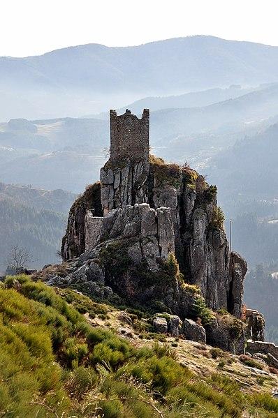 Château de Rochebonne depuis la D478.