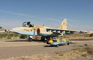 Chadian Air Force - A Su-25 frogfoot at N'djamena Airport