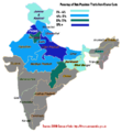 Chamar Population by Stae Percentage.png