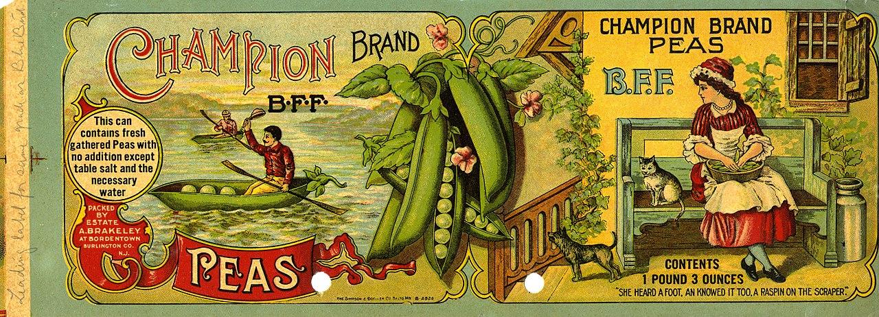 File:Champion Brand Peas Can Label - NARA - 22475177 jpg