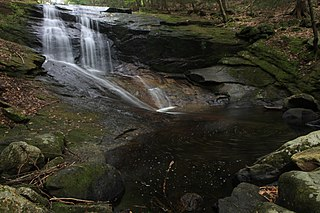 Chapel Brook stream in Franklin County, Massachusetts, United States