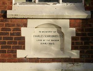 Crossens - Image: Charles Scarisbrick Memorial