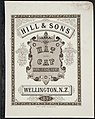 Charles Hill and Sons Ltd -Hill and Sons hat and cap manufacturers, Wellington, N.Z. 1897. McKee and Gamble, lith, Wellington. (Front cover) (20359773425).jpg