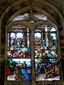 Chaumont-en-Vexin (60), église Saint-Jean-Baptiste, verrière n° 100 - la Cène, par J.F. Roussel, 1890.JPG