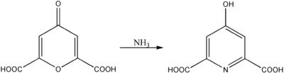 Herstellung von Chelidamsäure aus Chelidonsäure und Ammoniak