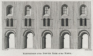 Chepstow Church: Elevation of the south side of the nave