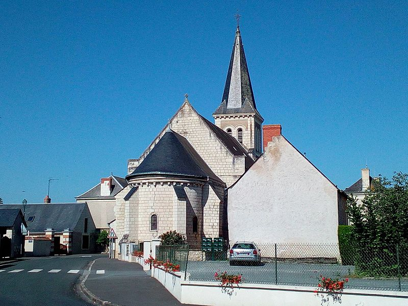 Chevet de l'église Saint-Jacques de Courléon