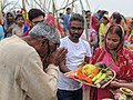 Chhath pooja celebration at the bank of Ganga.jpg