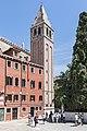 Chiesa di San Vidal (Venice) bell tower.jpg