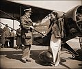 Chinese Aviatrix Receives Gift Of New Plane From Colonel Roscoe Turner, Washington, D.C. (1939) Harris & Ewing (RESTORED) (4095496200).jpg