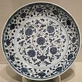 Chinese dish, Ming dynasty, early 15th century, porcelain with glaze, Honolulu Academy of Arts.JPG