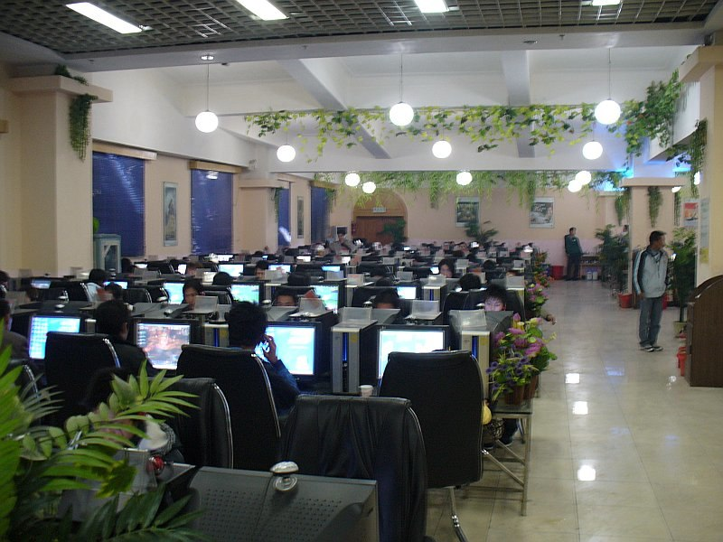 Chinesisches Internetcafe Lijiang