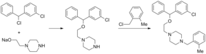 Chlorbenzoxamine - Image: Chlorbenzoxamine synthesis