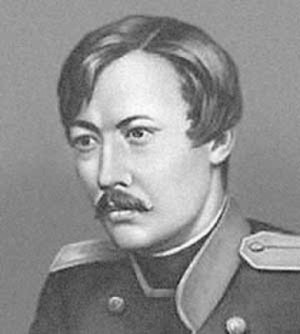 Shoqan Walikhanov - A portrait of Shoqan Walikhanov in his military uniform
